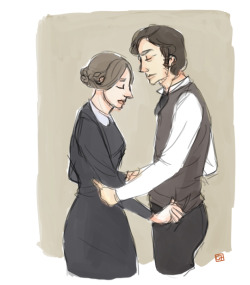 For an Anon who asked for Mr Rochester and Jane Eyre, really hope you'd like it! Thank you!! :)