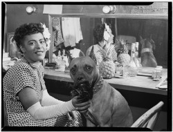 themotleyhoard:  Billie Holiday and Mister, New York, N.Y., June 1946 (William P. Gottlieb)