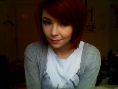 So this is my new red hair. It's brighter in person/outside, but yeah, you get the idea.  I like it.