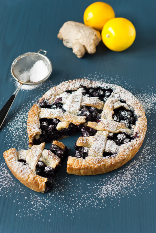 neekaisweird:  Blueberry Ginger Pie with Parmesan Cheese Crust