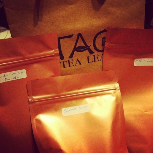 Went on teaventure. At #tao i got vanillamint puerh, summer lemon and masala chai yumm #tea #chai #puerh