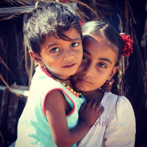 korrinadaisylady:  Pavaan and his big sister, Colva Beach, Goa, India