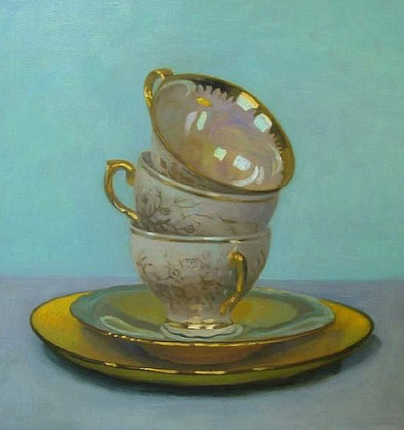 Olga Antonova Three Cups on Turquoise 2012
