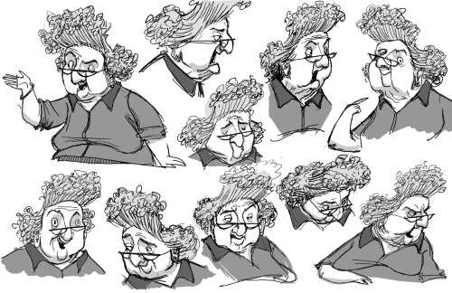 loupoppet:  Miscellaneous character concept sheets. Includes: Grandma Babcock in all her ghostly wonder! Mrs. Henscher, ooh! Mitch Downe… twice! Mr. Prenderghast's face in all sort of expressions! Salma Ramsay and her unibrow! Sandra Babcock (who is horrendously underrated just like all the members of the Babcock family except for you know who!) All illustrated by the talented David Vandervoort. Again. Because I can't get enough of his art.Seriously, check his work out sometime at his website.Based on character designs by Heidi Smith (who has a site here.)