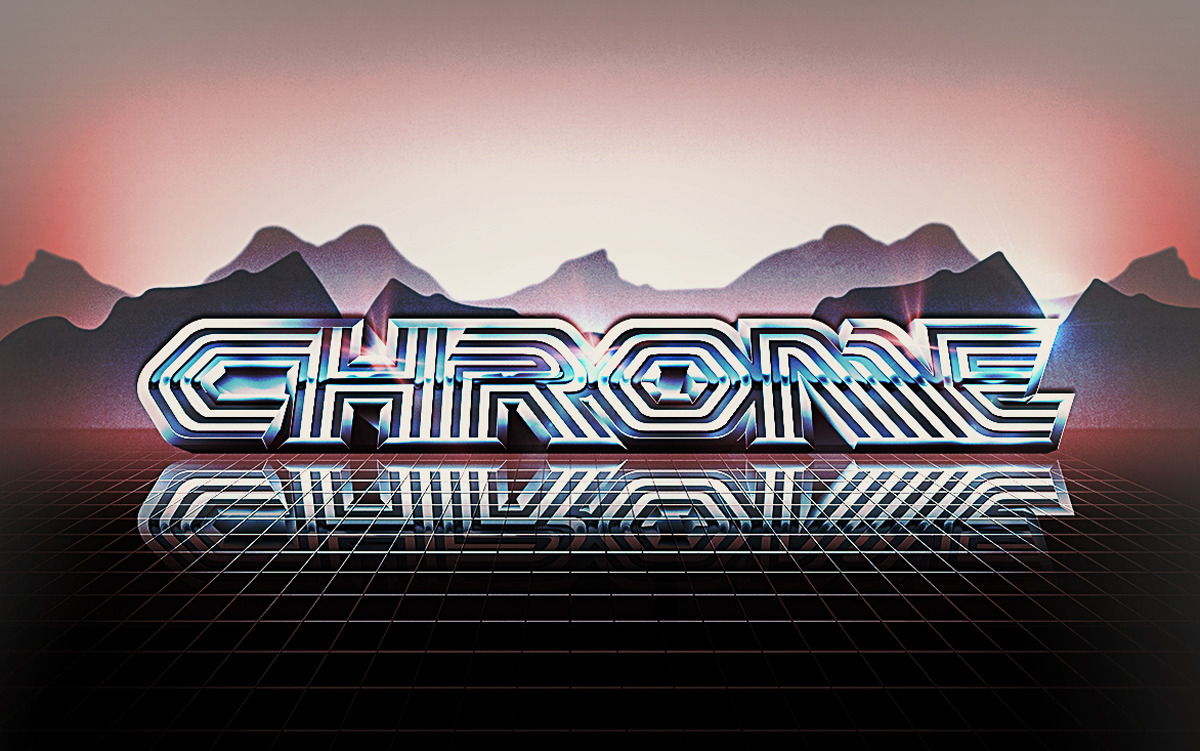 A revisit of an illustrated 1980's chrome effect in photoshop. Using my Chromed Out Tutorial on Behance with a slightly more advanced aesthetic. I call this type style 'Terminator'.