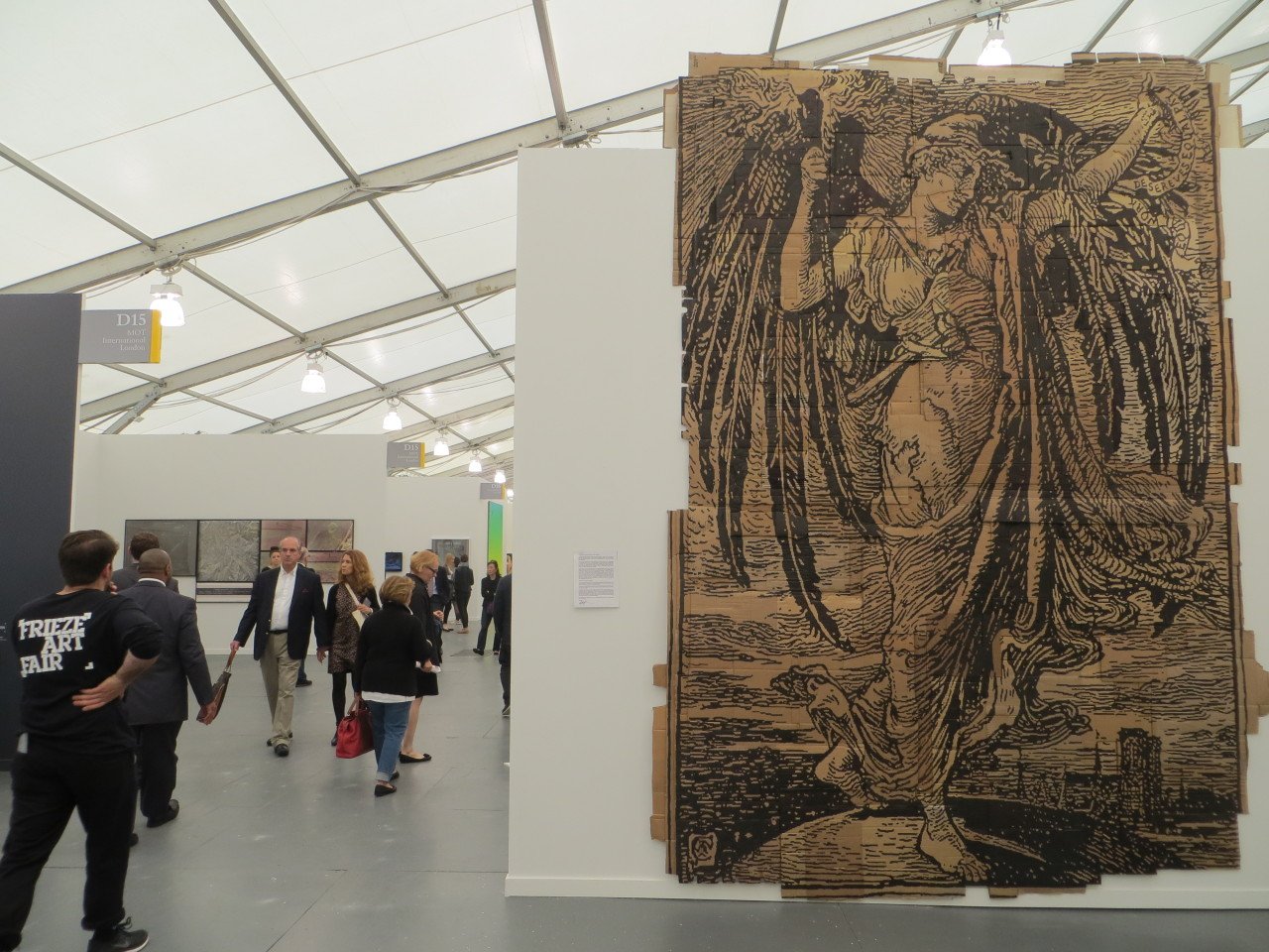 Andrea Bowers, 2013 — displayed at Susanne Vielmetter's booth at the Frieze Art Fair, along with a letter to the Fair's organizers [available here] denouncing their employment of non-union laborers.
