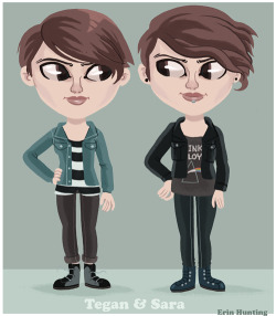 Since Tegan & Sara are touring Australia at the moment l keep seeing their little faces popping up everywhere. So much so l had to-attempt-to draw them tonight. Heartthrob is also one of the best albums l've heard in the past year or so & definitely worth a listen to.