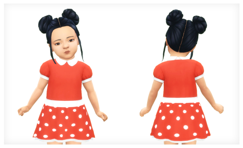 powluna58:  MINNIEObviously inspired by Minnie Mouse.dress female base game compatible 15 swatches [ electricPOP! by @teekalu]    DOWNLOAD(SFS   No Ads)Swatch Preview:WCIF?1: Hair [x]2: Hair [x]3: Hair [x]