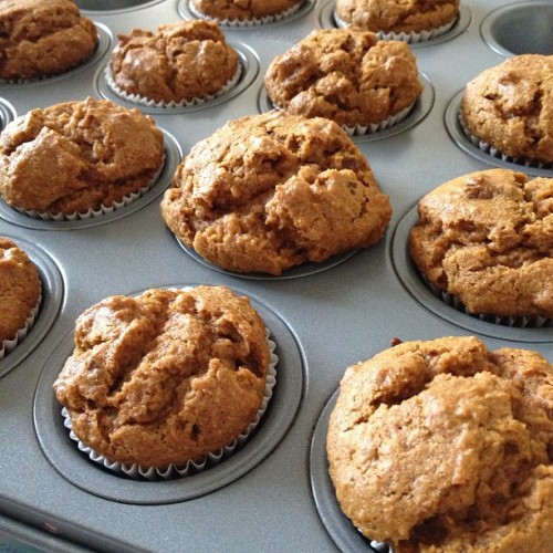 pumpkin bread muffins #beingdomestic