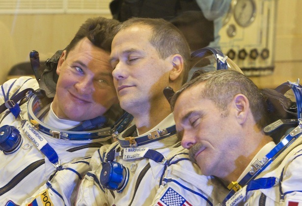 "Why You Can't Cry in Space  Astronauts can, certainly, tear up — they're human, after all. But in zero gravity, the tears themselves can't flow downward in the way they do on Earth. The moisture generated has nowhere to go. Tears, Feustel put it, ""don't fall off of your eye … they kind of stay there."" NASA spacewalk officer Allison Bollinger, who oversaw Feustel's EVA, confirmed this assessment. ""They actually kind of conglomerate around your eyeball,"" she said.  Read more. [Image: Reuters]"