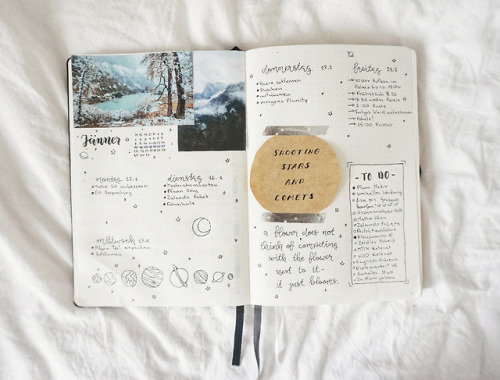 bujo journalsanctuary thecoffeedesk bullet journal week at a glance bujo weekly mine aesthetic studyspo studyblr quotes