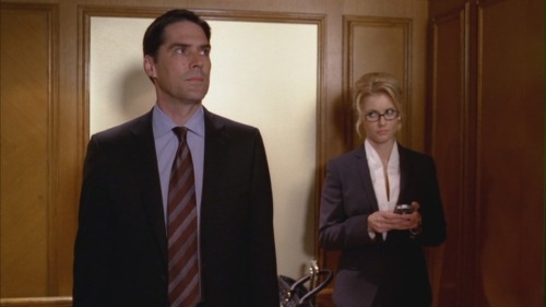Aaron Hotchner's first encounter with Megan Kane, Pleasure is my Business.