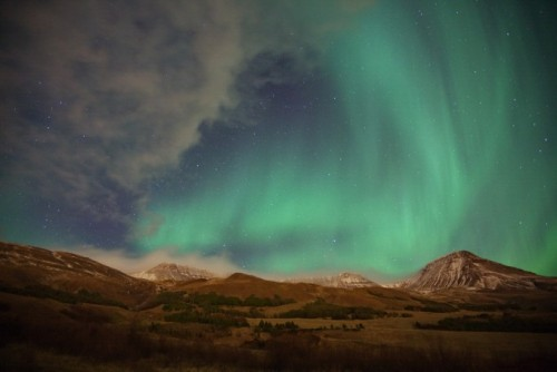 Northern lights in Iceland By: Olgeir Andresson