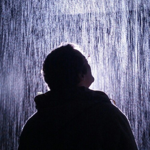 @higrapejuice in the rain room @barbican #nofilter