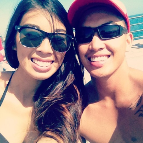 A day with the gf @karencrespo  (at Huntington Beach Pier)