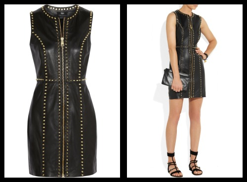 VERSUS | Studded leather mini dressI have fallen in love!!! This...
