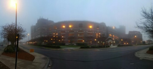 Morning fog at FSU  UniversityI'm at Doak Campbell Stadium (via Scope)