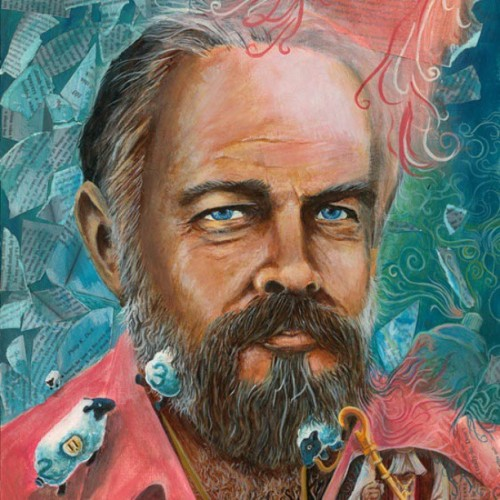 Author Jeff Kripal will be featuring my #painting A #PHILIPKDICK MOMENT (detail seen here) in his upcoming textbook COMPARING RELIGIONS. #PKD #SCIENCEFICTION #UBIK #BLADERUNNER #VALIS #ART #PORTRAIT #ACRYLIC