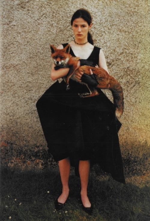 Love the dress, love the gloves, LOVE the fox!