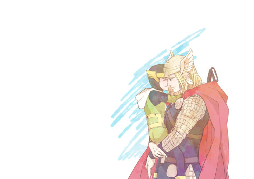 kid Loki and Thor