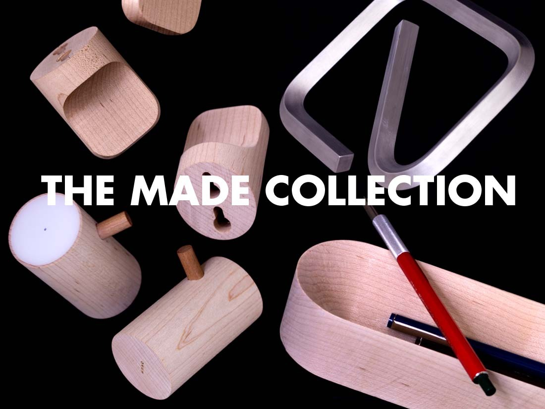 Form follows. The Made Collection is a line of practical household objects designed and produced in Los Angeles. After creating several acclaimed products for a variety of companies and purposes, Made marks the first in-house project by up-and-coming designer David Okum. These functionally beautiful goods are the Project of the Day.