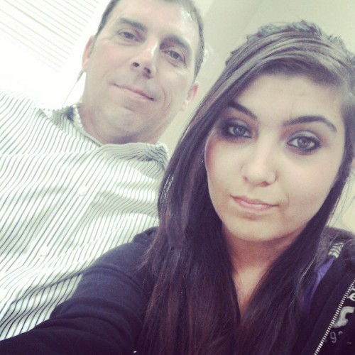 Me and daddy at my probation class (: