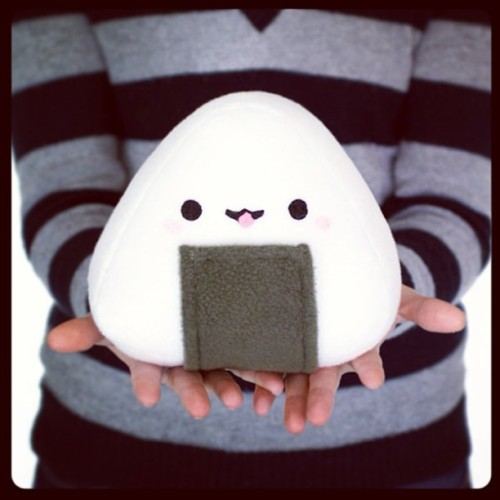 Happy onigiri plush!! http://www.shanalogic.com/happy-onigiri-plush.html #cute #sushi #handmade