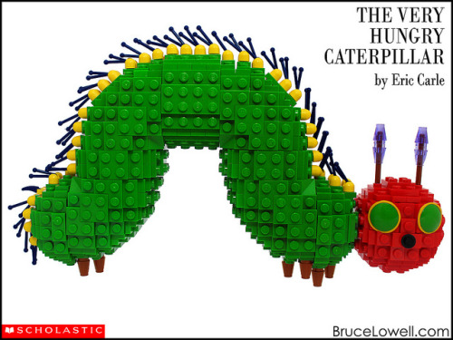laughingsquid:  Cover of 'The Very Hungry Caterpillar' Recreated With LEGOs