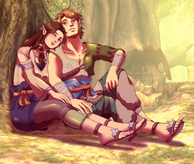 Caring the princess by ~Queen-Zelda  Uma Zelda morena *-*