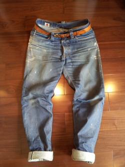 Beautiful worn Big John jeans