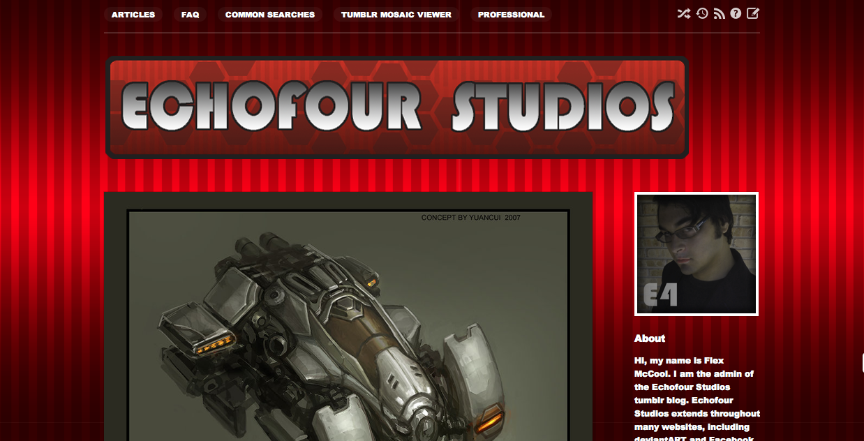 Echofour Studios Theme Update Improved for your convenience…. Photo Credit: http://guesscui.deviantart.com/art/Futuristic-Car-60078639