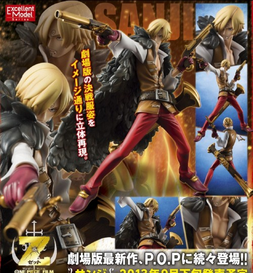 "One Piece Excellent Model Portrait Of Pirates ""Edition-Z"" Sanji is now available for preorder. Release date: September 2013."