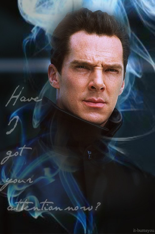 it-burnsyou:  Benedict Cumberbatch - Khan.