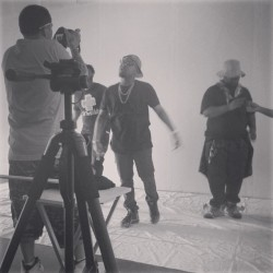 tonydelfreshco:  1 more from the shoot today with @lennychaos @ac_gutta @djzpac3bwoiy #blessthefresh #todayskicks #videoShoot