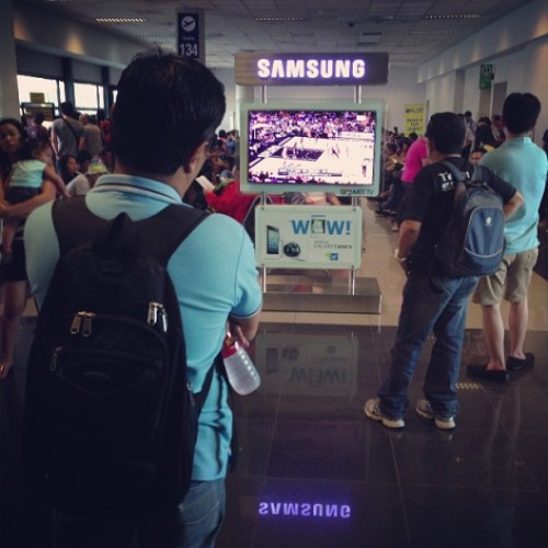 The NBA Playoffs is playing at Terminal 3 MNL http://bit.ly/11actUp