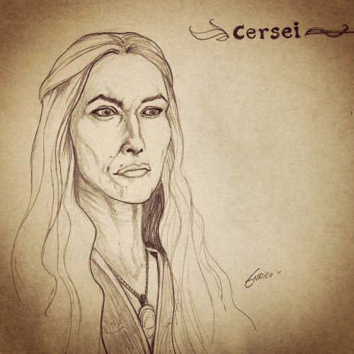 It's Westeros Wednesday! Today while I sit and have my morning coffee I sketch one of the wonderful women of Westeros! Only today she's not so wonderful, actually I hate her. cersei lannister.