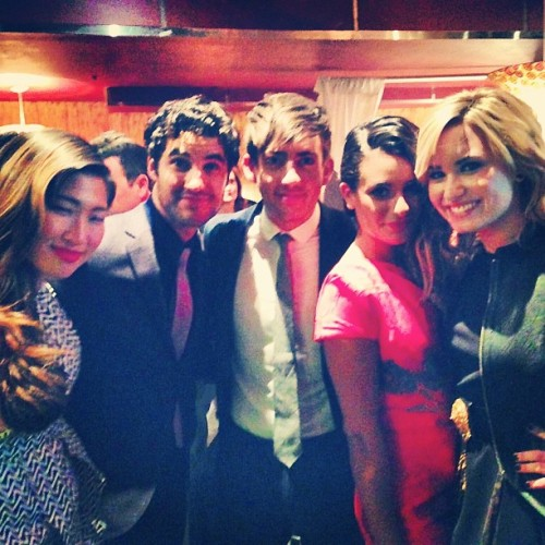 sickofmyownvoice:  Fox Friends :)) #Demi #choosingGlee both out tomorrow! @ddlovato @jennaushkowitz @msleamichele @darrencriss