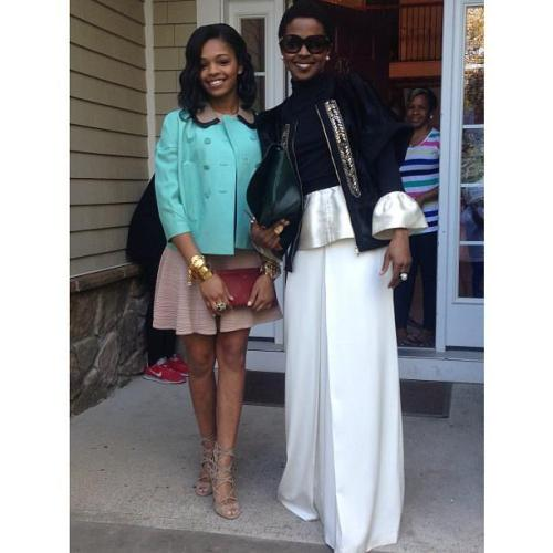Lauryn Hill and her Daughter Selah via @msjamilaaisha