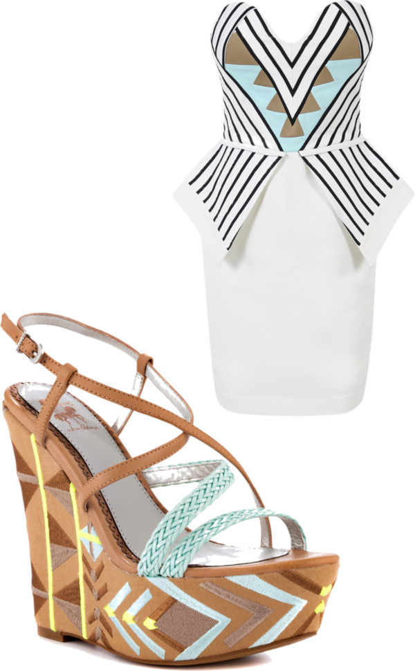 dress with swag por blauerosen con mini dressesMini dress / Sam Edelman wedge shoes