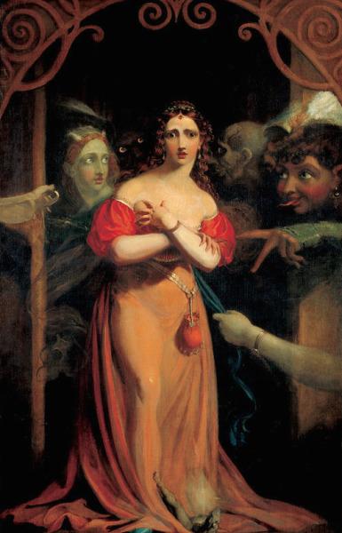 Bertalda, Assailed by Spirits (c.1830) - Theodor von Holst