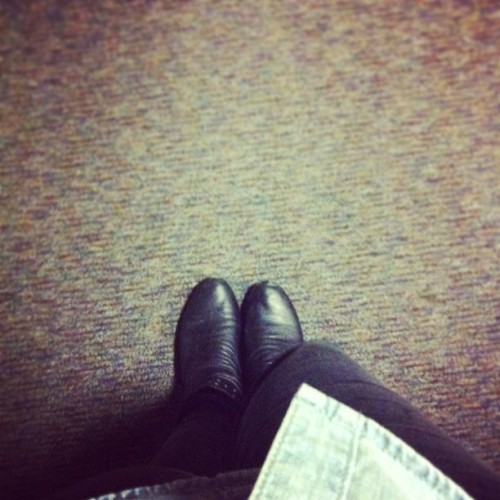 #blackshoes #blackjeans #black #jeans #shoes #leather #boots #studs #kindof #bow #denim #shirt #buttondown #floor #fashion