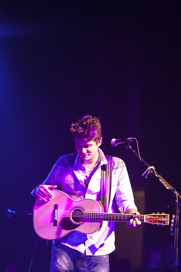 gwendolynandthephotoshow:  John Mayer @ the Emerson on January 16, 2013, a benefit concert raising money for the firefighters of the pine creek fire