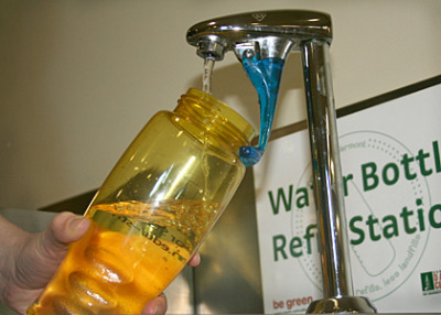 laboratoryequipment:  University Stops Sales of Bottled WaterThe Univ. of Vermont will become one of the first institutions nationwide to end the sale of bottled water on campus and mandate that one-third of drinks offered in vending machines be healthy options. The decision marks the advent of a long-awaited systematic sustainable beverage policy after years of lobbying by students and the greater campus community.The announcement comes five months prior to the end of a ten-year contract with Coca-Cola of Northern New England that allowed the company to provide 100 percent of beverages in vending machines and 80 percent of bottled beverages served in retail, residential dining and catering, totaling more than 1.1 million bottles per year.Read more: http://www.laboratoryequipment.com/news/2013/01/university-stops-sales-bottled-water