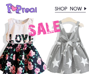 Popreal Toddler Long Dress Sales
