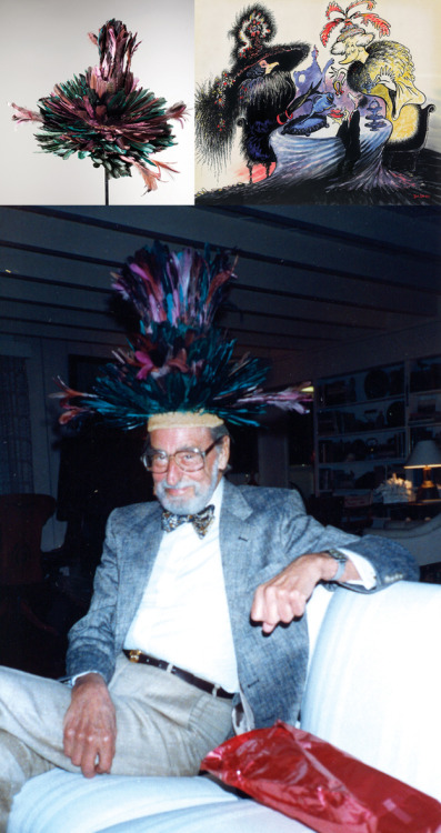 Dr. Seuss had A SECRET HAT COLLECTION.