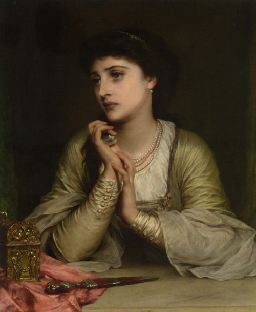 fuckyeahpreraphaelites:  Distant Thoughts, Thomas Francis Dicksee