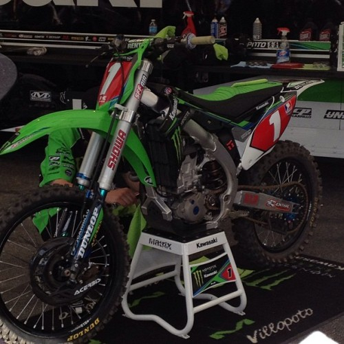 I wanted to steal Ryan Villopoto's motorbike, but apparently he needed it for something…oh yeah #winning