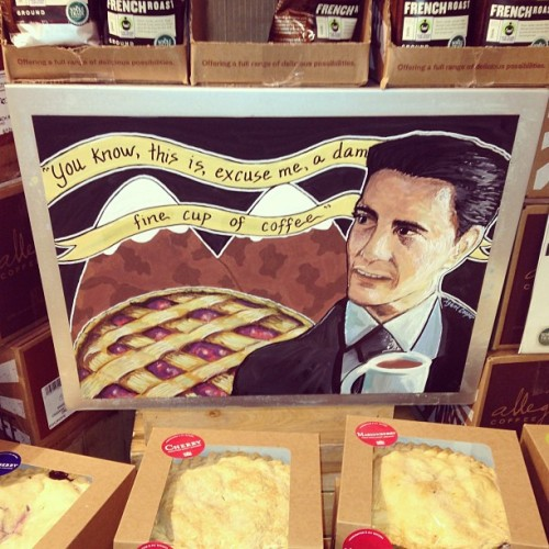 Agent Cooper looooves coffee. (at Whole Foods Market)