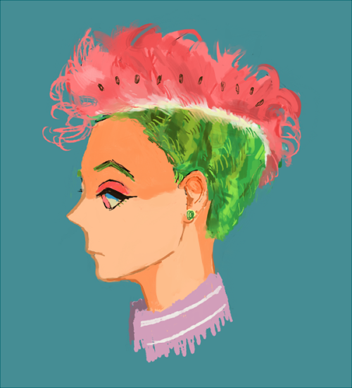 watermelon hair ???
