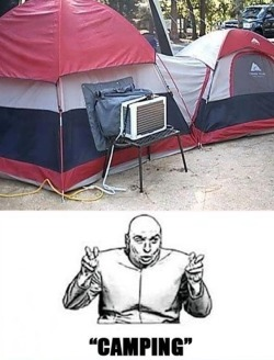 This is my kind of camping.